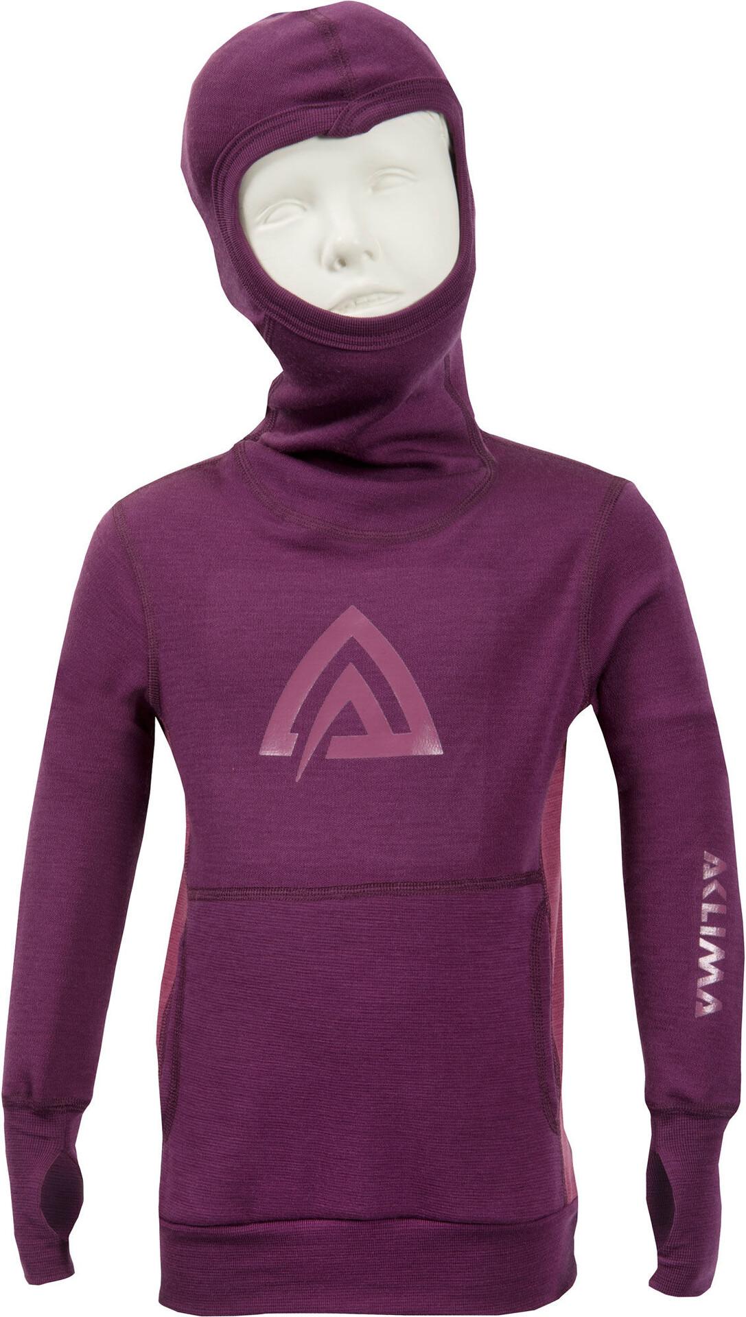Aclima Kids WarmWool WarmWool WarmWool Hood Sweater Grape Wine/Damson 48507a